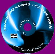 1700 GAS CALDAIA manuali di servizio di riscaldamento / IDRAULICO DVD & base IDRAULICA MANUALE NUOVO
