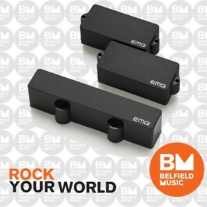 EMG PJ-Set PJ-Bass Guitar Pickup Set Black - Brand New - Belfield Music