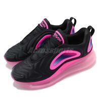 Nike Air Max 720 GS Black Laser Fuchsia Kid Youth Women Shoes Sneaker AQ3196-007