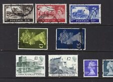Great Britain 9 Different High Denomination Used, Lot 1-4-69