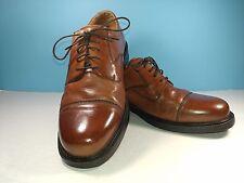 Borelli Cap Toe Lace Up Brown Leather Casual Dress Shoes Men 12
