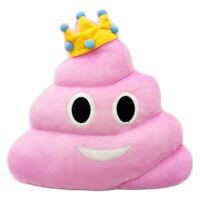 "Pink Queen POOP Emoji Pillow Emoticon Cushion Plush Toy 13"" Same Day Shipping"