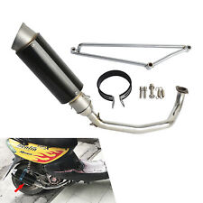 For Scooter GY6 Engine 125cc 150cc Scooters Pipe Exhaust Muffler Stainless Steel