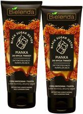 Bielenda BLACK SUGAR DETOX Detoxifying moisturizing wash foam , acne, pores LOT2