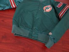 Vtg 90s MIAMI DOLPHINS Jacket Starter Chalkline Florida Heat Panthers