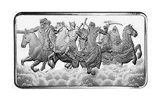 10 oz Four Horsemen Of The Apocalypse Bar .999 Ag SHIPPING NOW 4 Horseman 777