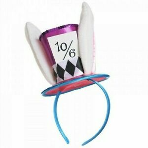 Mad Hatter Headband Alice In Wonderland Party Accessory Womans Girl Mini Top Hat