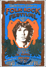 New listing Doors Janis Joplin Animals 68 California Folk Rock Festival Concert Poster