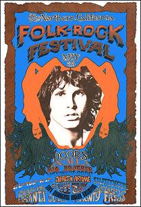 DOORS JANIS JOPLIN ANIMALS 68 California Folk Rock Festival Concert Poster
