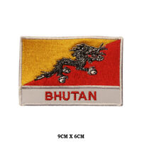 BHUTAN National Flag Embroidered Patch Iron on Sew On Badge