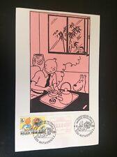 Rare carte Timbre oblitérée Tintin Special Boekenbeurs 1991 Philatélie jeunesse