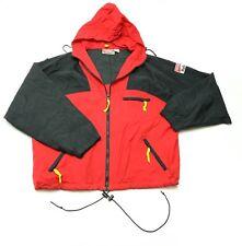 Vintage Marlboro Adventure Team Mens XL Red/Black Hooded Windbreaker Jacket EUC