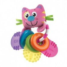 Playgro Kitten Keys Baby Teether Teething Aid Rattle Toy Ring Textured Infant