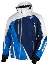 FXR RACING MISSION LITE SNOWMOBILE JACKET SIZE XL WHITE/NAVY/BLUE 15102.40016