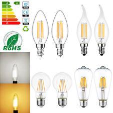 E14 E27 LED 2W 4W 6W 8W Lampe Birne Kerze Leuchtmittel Glühlampe Filament 220V