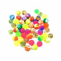 100 Jet Bouncy Balls Children Kids Party Loot Bag Xmas Stocking Fillers Toy 27mm