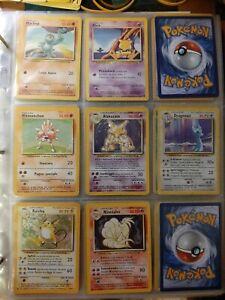 💥 Lotto carte pokemon Set Base 💥 8 cards lot ⭐ con holo e rare ⭐