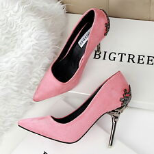 Fashion Women PINK Party Stiletto Pointed-toe Cave High Heel Pumps Wedding Shoes