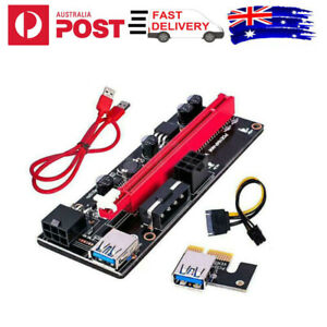 1/2pcs 60cm VER009S PCI-E Riser Card PCIe 1x to 16x USB 3.0 Data Cable Bitcoin
