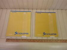1993 HYUNDAI SCOUPE Factory Shop Service Manual Set 2-Volume