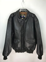 Authentic US Wings Indiana Jones Brown Leather Jacket Bomber Flight - Size 48