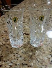 """WATERFORD CRYSTAL ROWENA  6"""" ICED TEA GLASSES  SET of TWO"""
