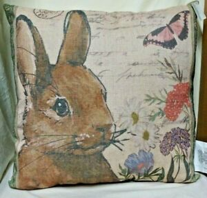 Easter Bunny Decor Pillow 20 inch Square
