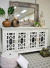 French Provincial Shabby Chic Sideboard Cabinet Buffet Hamptons Vintage Glass