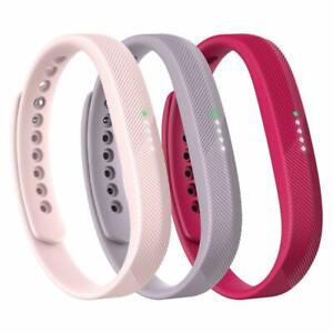 NEW Fitbit Flex 2 Accessories Classic Wristband Band 3-Pack (Sport, Pink) Large