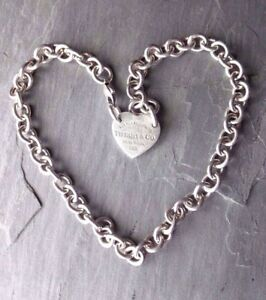TIFFANY & Co. HEART TAG CHOKER Sterling Silver 925 Return to Tiffany Collection