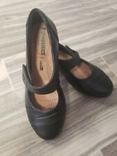Black Leather Everlay Kennon Soft Cushion Collection Clarks
