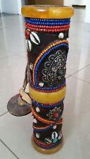 Etui cylindre coquillages et perles Népal Tibet Bouddhisme