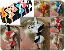 Headband Bow Fabric Satin Dual Colour Hand Band Hair Accessory 6 Colors Off