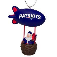 New England Patriots Christmas Tree Holiday Ornament New - Team Logo Santa Blimp