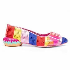 Irregular Choice 'Sprinkled' (A) Pink Multi Low Doughnut Heel Bow Shoes