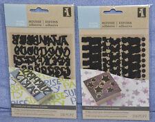 Inkadinkado Make Your Own Stamps - STICKY FOAM: ALPHABET / DOTS / STARS: NEW!!