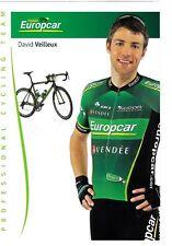 CYCLISME carte cycliste DAVID VEILLEUX équipe EUROPCAR 2012