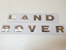 LAND ROVER Chrome 3D LETTERS HOOD OR TRUNK TAILGATE EMBLEM BADGE NAMEPLATE