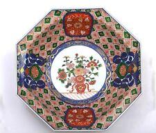 Old Japanese Imari Arita Porcelain Hexagon Bowl Dutch Foreigner & Flower Mk