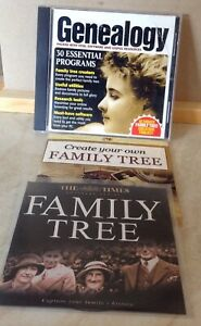 COMPLETE PC GENEALOGY PLUS TWO FAMILY TREE CDS