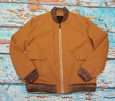 Levis Made & Crafted Lightweight Tan Brown Bomber Jacket Windbreaker £230 New L