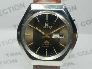 Vintage Ricoh Two Tone Dial 21J Mechanical Automatic Mens Wrist Watch WU404 A