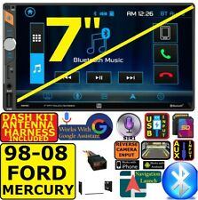 """FITS SELECTED 1998-08 FORD MERCURY 7"""" BLUETOOTH USB SD AUX CAR RADIO STEREO PKG"""