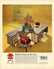 1961-Royal Office Furniture-Asian Dancers Posing/Desk- Vtg Ad Print
