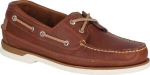 Sperry Top-Sider Mako 2-Eye Canoe Moc Shoes (Men's) in Tan Leather - NEW