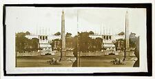 Rome Roma Piazza del Popolo Italia Italie Stereo ca 1870