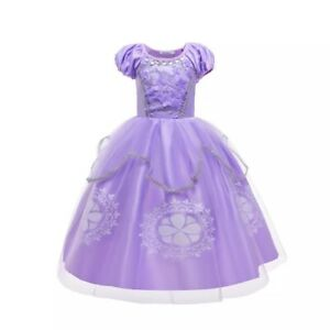 Children Cosplay Dress Sofia the first Princess Dress Halloween Party Costume
