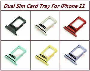 Lot OEM Dual Sim Card SD Card Tray Slot Holder For Apple iPhone 11 + Sim Adapter