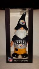NEW NFL PITTSBURGH STEELERS TEAM GNOME NIB BY FOREVER COLLECTIBLES 12 INCH TALL