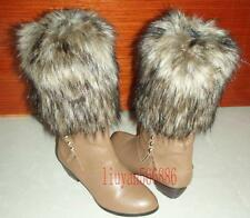 NEW Boot Cuff Fluffy Soft Furry Faux Fur 20cm Leg Warmers free shipping
